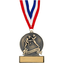 """2 3/4"""" Wrestling Cast Medal"""