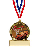 Basketball Medal - 2 3/4""