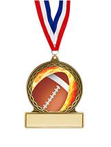 """Football Medal - 2 3/4"""""""
