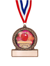 "2 3/4"" Teacher's Apple Medal of Triumph"