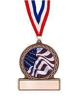 "2 3/4"" Flag Medal of Triumph"