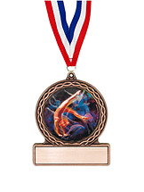 "2 3/4"" Female Gymnastics Medal of Triumph"
