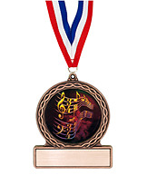 "2 3/4"" Music Medal of Triumph"