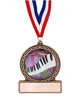 """2 3/4"""" Piano Medal of Triumph"""