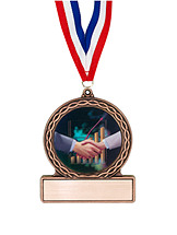 "2 3/4"" Shaking Hands Medal of Triumph"