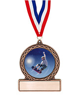"2 3/4"" Skateboard Medal of Triumph"