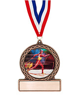 """2 3/4"""" Skiing Medal of Triumph"""