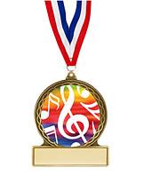 """Music Medal - 2 3/4"""""""