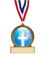"Religious Medal - 2 3/4"""