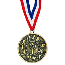 "2"" All Sports Medal with Ribbon"