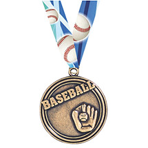 Baseball Medal - Baseball Medal with Ribbon