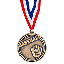 "Baseball Medal - 2"" Baseball Medal with Ribbon"