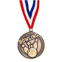 Bowling Medal with Ribbon