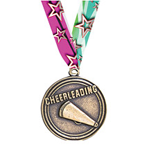 "2"" Cheerleading Medal with Ribbon"