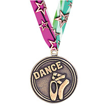 """Dance Medals - 2"""" Dance Medal with Ribbon"""