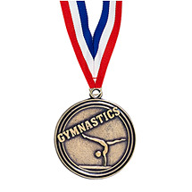 "2"" Gymnastics Medal with Ribbon"