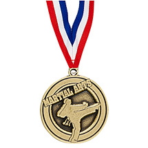 "2"" Martial Arts Medal with Ribbon"