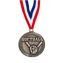 Softball Medal - Softball Medal with Ribbon