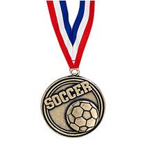 """Soccer Medal - 2"""" Soccer Medal with Ribbon"""