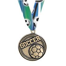 Soccer Medal - Soccer Medal with Ribbon