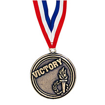 "2"" Victory Medal with Ribbon"