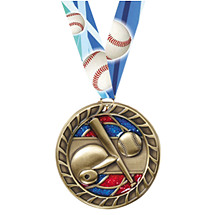 Baseball Glitter Medal