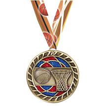 Basketball Glitter Medal