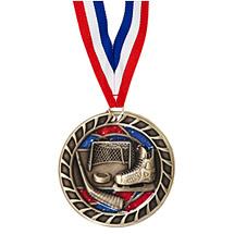 "Hockey Glitter Medal - 2 1/2"""