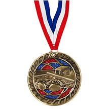 """Swim Glitter Medal - 2 1/2"""""""