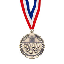 Small Bowling Medal - Laurel Wreath Bowling Medal