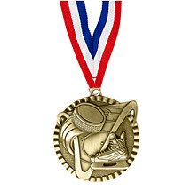 "2"" Hockey Victorious Medal with Ribbon"