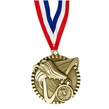 "2"" Track Victorious Medal with Ribbon"