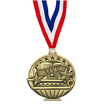 "2"" MVP Medal with 30 in. Neck Ribbon"