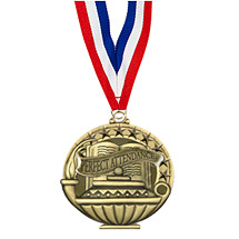 School Medals - Perfect Attendance Medal with 30 in. Neck Ribbon