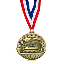 "2"" Student Council Medal with 30 in. Neck Ribbon"
