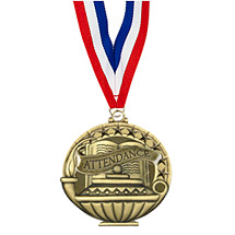 "School Medal - 2"" Attendance Medal with 30 in. Neck Ribbon"