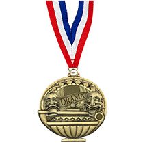 "2"" Drama Medal with 30 in. Neck Ribbon"