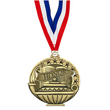 "2"" Honor Medal with 30 in. Neck Ribbon"