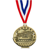 "2"" Knowledge Medal with 30 in. Neck Ribbon"
