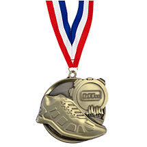 Cross Country Track Medal - Cast Cross Country Medals with Ribbon