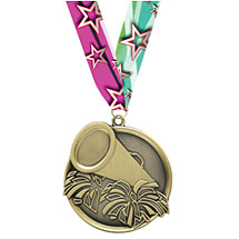 Cheer Medal - Cast Cheer Medals with Ribbon