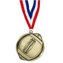 Football Medal - Cast Football Medals with Ribbon