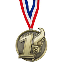 "2 1/4"" 1st Place Medal with Ribbon"