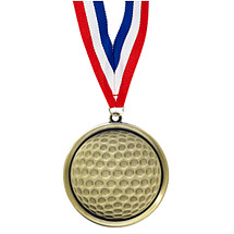Golf Medal - Cast Golf Medals with Ribbon