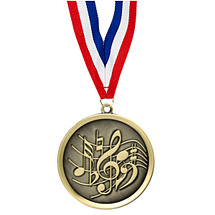 Music Medal - Cast Music Medals with Ribbon