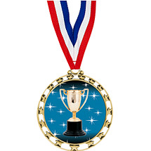"Achievement Medal - 2 1/2"" Sports Star Series Medal with 30"" Neck Ribbon"