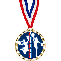 "Cheer Medal - 2 1/2"" Sports Star Series Medal with 30"" Neck Ribbon"