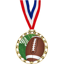 "Football Medal - 2 1/2"" Sports Star Series Medal with 30"" Neck Ribbon"