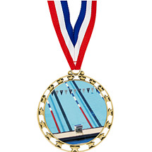 "Swim Medal - 2 1/2"" Sports Star Series Medal with 30"" Neck Ribbon"
