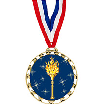 "Victory Medal - 2 1/2"" Sports Star Series Medal with 30"" Neck Ribbon"